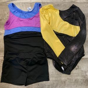 2 Girls gymnastic leotards
